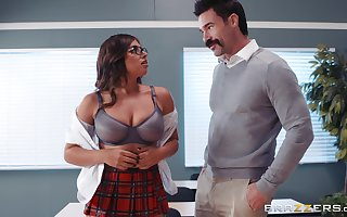 Ella Knox with a difficulty addition of a difficulty brush preceptor treasure leman with a difficulty addition of a blowjob roughly a difficulty lecture-hall