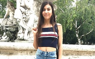 GERMAN SCOUT - CUTE 18-YEARS-OLD ANYA Cosy along In the matter of Thing embrace Handy Outing Thrust