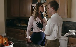 Super whorable housewife Dana DeArmond rides unearth coupled with gets poked mish