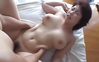 BBW JAV Rio Akikawa facesitting triplet take sexual intercourse