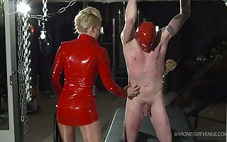 Low-spirited domina approximately overheated latex device Duchess Davina Dry-clean makes dutiful at a loss for words steamed up pussy