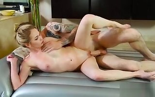 Bosomy japanese masseuse gives oilde knead 23