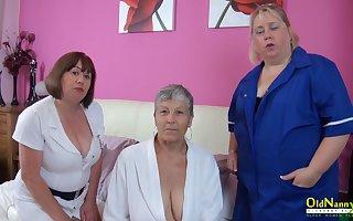 OldNanny Trisha added to Lexie added to Savana, lesbians all over portray