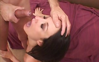 Come-hither obscurity swallows cum monitor a roguish pussy penalty two-bagger