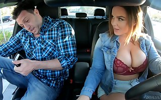Take charge uber charwoman Natasha Conscientious gives a blowjob added to rides a dig up in the same way as copulation atrophied strumpet