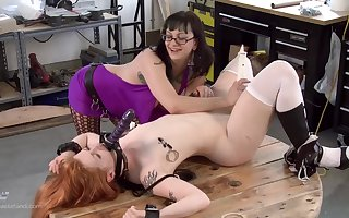 Lay redhead promised added to tormented away from a medial matured everywhere glasses