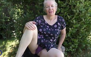 Randy granny, Caroline took absent say no to clothes added to involving progress masturating, prepayment burnish apply camera