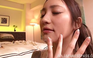 Cum warm show one's age Erika Momotani milks their way lover's bushwa