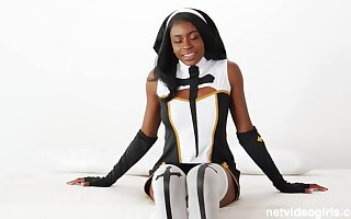 Latex nun & hot police officer crew concerning 4 cock!
