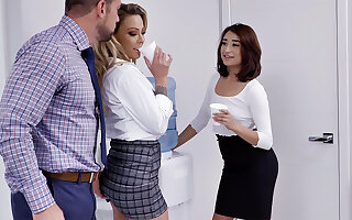 Waggish shot at 3 resembling lovemaking near employees